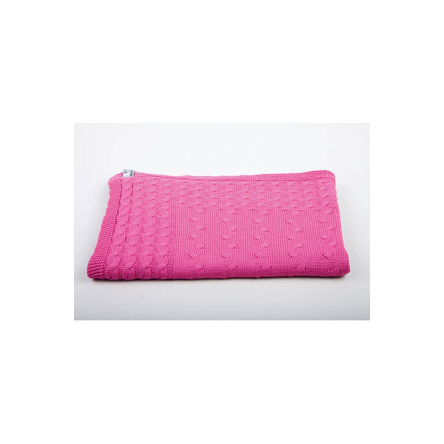 baby 39 s only babydecke gestrickt pink baumwolle. Black Bedroom Furniture Sets. Home Design Ideas