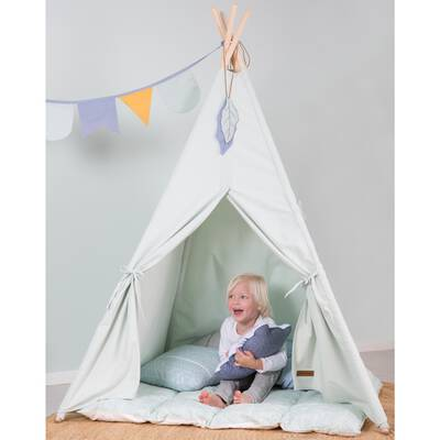Little Dutch Tipi Zelt mint mit Spieldecke&Wimpelkette