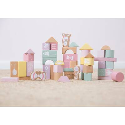 Little Dutch Holzbausteine Adventure pink