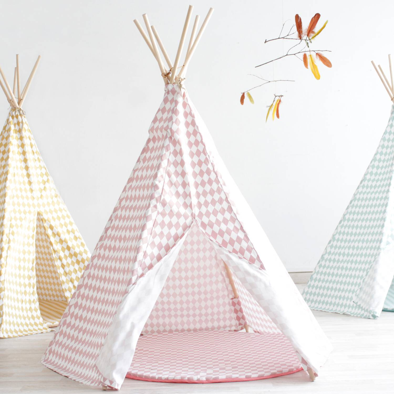 tipi nobodinoz kinderzelt rosa raute arizona bea bitzer. Black Bedroom Furniture Sets. Home Design Ideas