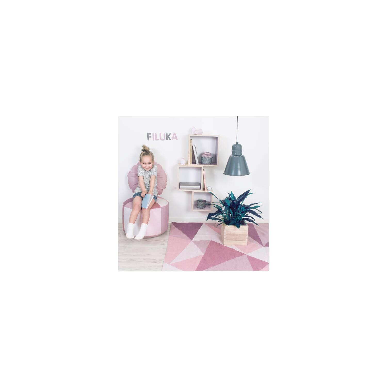 sebra teppich gewebt grafisches muster rosa bea bitzer. Black Bedroom Furniture Sets. Home Design Ideas