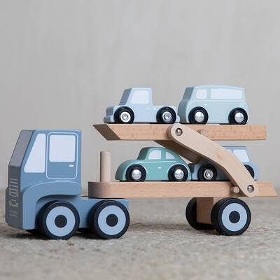 Little Dutch Auto-Transporter blau aus Holz