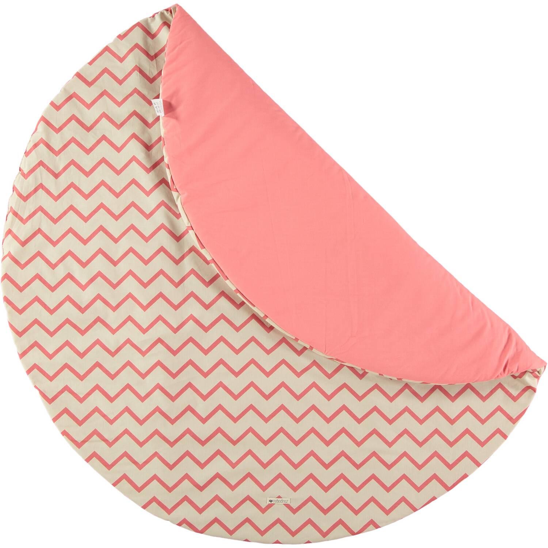 nobodinoz spieldecke rund zigzag pink 105 cm. Black Bedroom Furniture Sets. Home Design Ideas