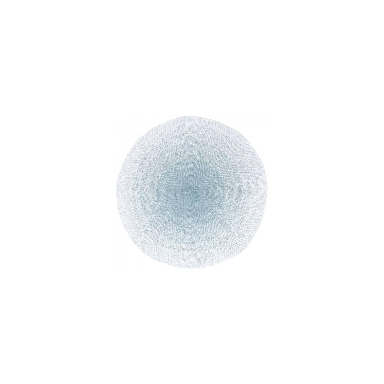 sebra teppich rund mit blauem farbverlauf bea bitzer. Black Bedroom Furniture Sets. Home Design Ideas