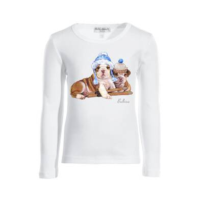 Kinder-T-shirt Langarm Winter Puppies Balbina